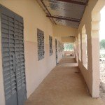 Veranda of the new school in N'Galamatiebougou