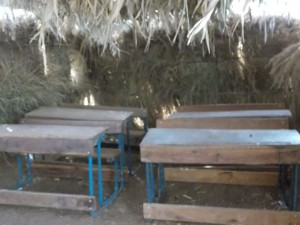 Temporary classroom in Gongasso