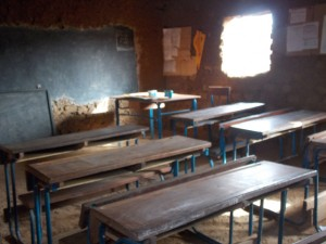 Mud Brick classroom in Gongasso
