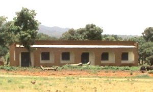 View from the road of the new school in Nimporodioula, our 16th