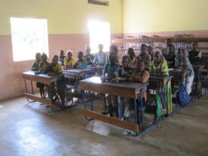 An airy and bright new classroom in Kounfouna