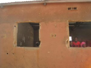 The current school building Nolabougou that is in need of repairs