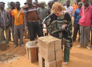laying the first brick
