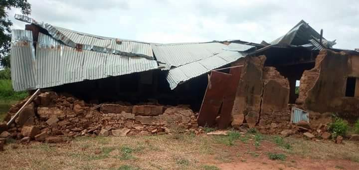 Tabakoro schoolhouse, after the rains